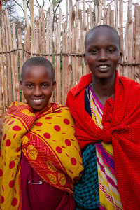 Maasai children smiling for the camera