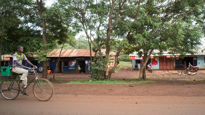 Bicyclist in Tanzania