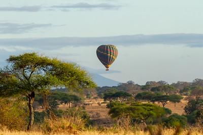Hot Air Balloon over Tarangire National Park