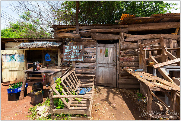 Wooden house, shop in Mto wa Mbu, Tanzania
