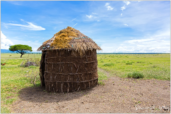A circular shaped house. It might appear too small to stand, sleep, cook, eat and to do other stuff but believe me it is big enough.