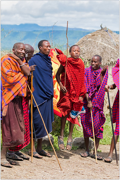 Different ages of Maasai men.