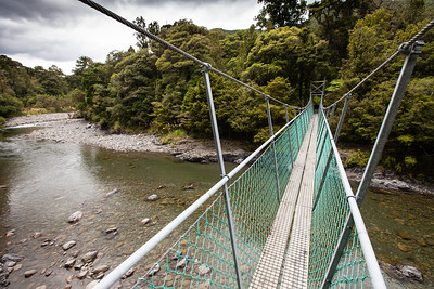 Swingbridge over Tauherenikau River, Tararua Forest Park