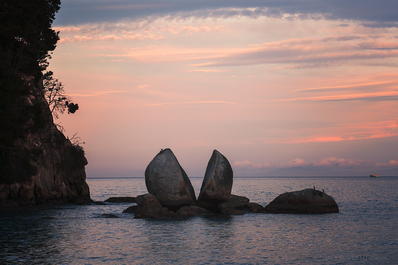 Split Apple Rock Sunset