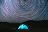 Stars Trails Above Tent