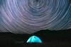 Stars Trails Above Tent