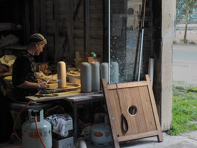 Potter at work in Cygnet