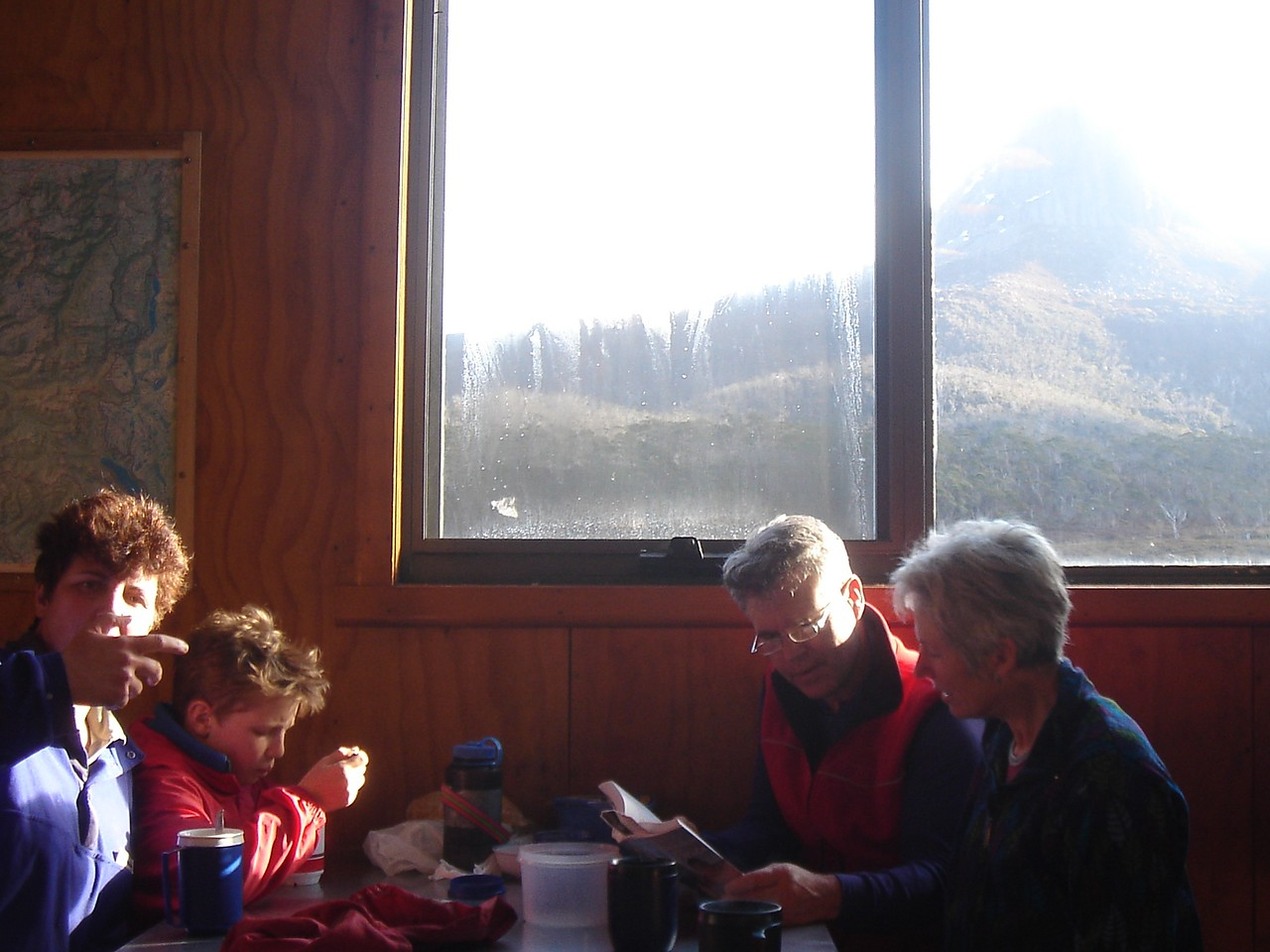 In Waterfall Valley Hut.
