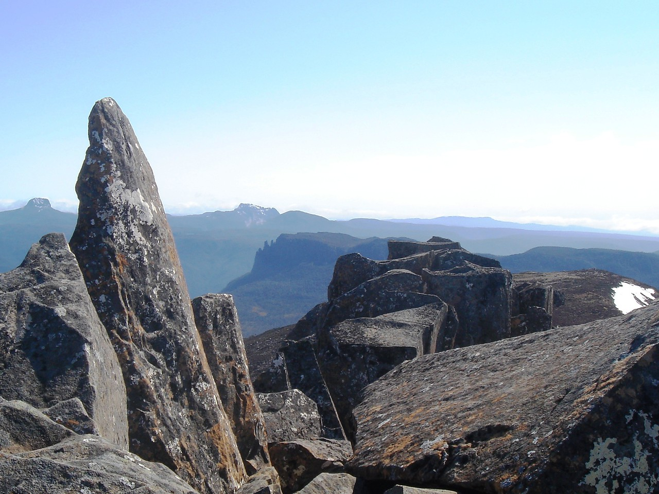 Barn Bluff and Cradle Mountain from Mt Ossa