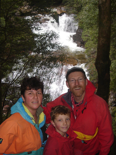 Mary, Anthony and Adrian at waterfalls