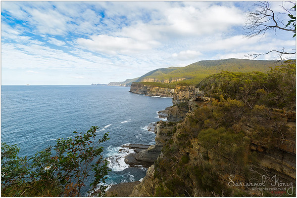 Lookout view of Pirates Bay at Tasman National Park