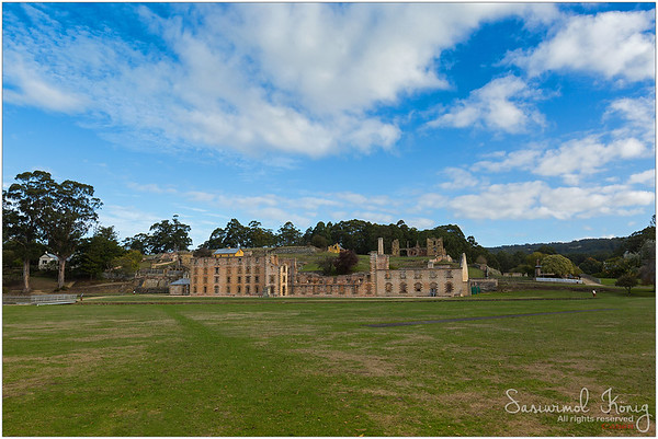 The Penitentiary at Port Arthur Historic site, Tasman Peninsula. It was constructed as a flour mill, converted into a penitentiary in 1857