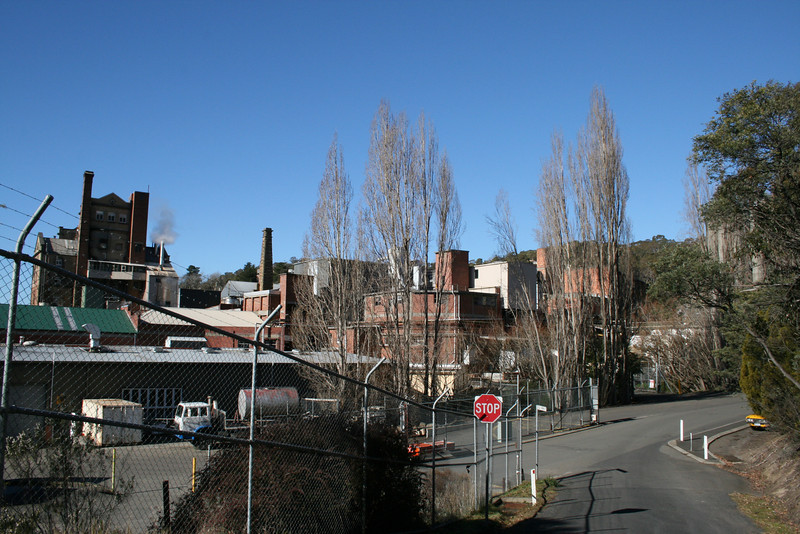 Rear of Cascade Brewery from Old Farm Road, South Hobart.
