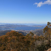 Hobart's southern & eastern suburbs from Pinnacle Road, Mt Wellington