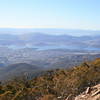View over Hobart from Pinnacle Road, Mt Wellington