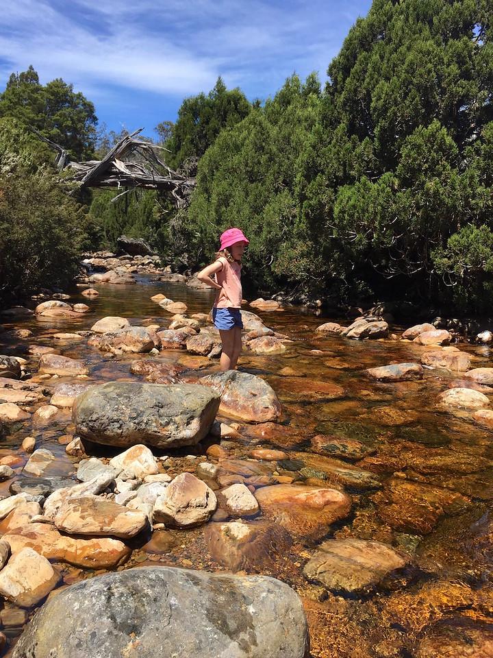 Asha enjoying the water
