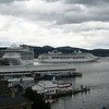 The Sun Princess leaving Hobart at 11.30 this morning.  The Diamond Princess pushed off about 6pm.  They're just floating blocks of flats really.