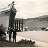 Scott & Brent with James Craig on Domain Slipway.  After the bridge was reopened, so 1977 or after.