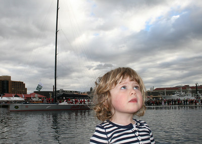 Line Honours finish Sydney - Hobart 2012