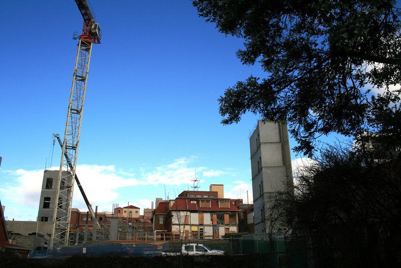 Rear view of the Hollydene/Menzies development, from the Railway Roundabout.