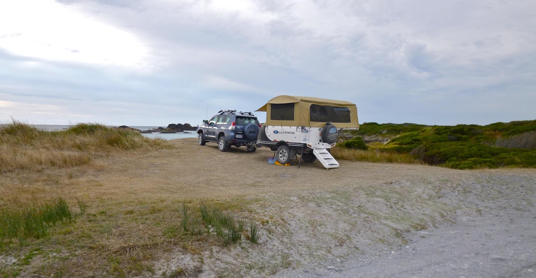 Camping at Couta Rocks