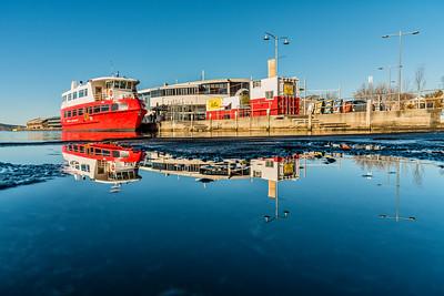 Reflection at Franklin Wharf.