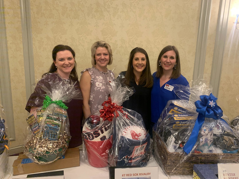 From left, Tara Lydon, Tracy Callahan, Holly Redding Cooper and coordinator Carey Noel, all of Chelmsford