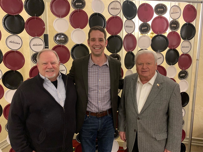 From left, Bill Martin, former Taste of Chelmsford coordinator Jeff Cooper and John Harrington, all of Chelmsford