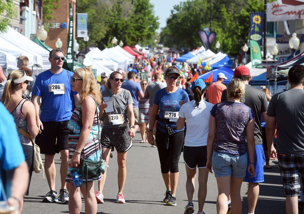. Crowds are already big in the morning of the festival. The Taste of Louisville was held on Saturday in the downtown area. For more photos, go to www.dailycamera.com.  Cliff Grassmick  Staff Photographer June 3, 2017