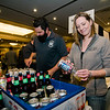 Jessamyn Hagelberg serves up samples from Wachusett Brewery during the Annual Taste of North Central on Wednesday evening at the DoubleTree by Hilton Hotel in Leominster. SENTINEL & ENTERPRISE / Ashley Green