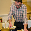 Josh Longtin serves samples from Rye and Thyme during the Annual Taste of North Central on Wednesday evening at the DoubleTree by Hilton Hotel in Leominster. SENTINEL & ENTERPRISE / Ashley Green
