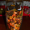 "November 1, 2014<br /> <br /> ""HAPPY THANKSGIVING 2014"" Theme<br /> (Centerpiece - Potpourri in a glass vase)"