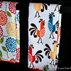"Coordinating  Kitchen Towels for ""RED FLORAL"" Theme<br /> <br /> June, 2014"