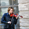 A violinist provided renditions of classical and modern music for attendees to enjoy.