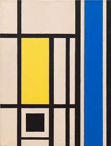 Version 2 marlow moss Untitled (White, Black, Blue and Yellow)