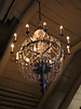 Salt crystal chandelier