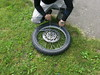 Working the tyre irons