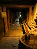 Water drainage inside the mine