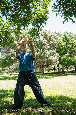 Arnoldo's Tai chi practice - photo series