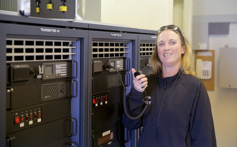Joanna testing Barretts Transmitter from Matea Transmit Site back to Maritime Operations  Centre  Avalon