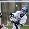 Blake Taylor (22) Westfield HS freshman lax 4/20/13 St Peters Prep
