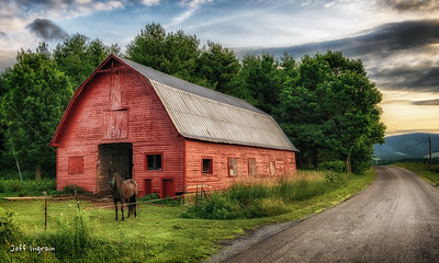Burkes Garden Red Barn