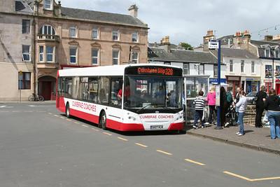 Cumbrae Coaches E300 SK07HLW at Millport