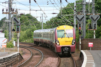 334032 approaches Kilwinning with a Largs service