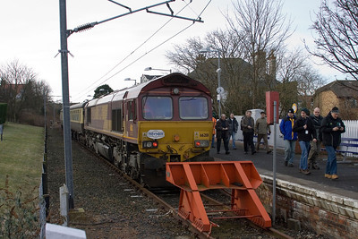 66201 on the blocks at North Berwick