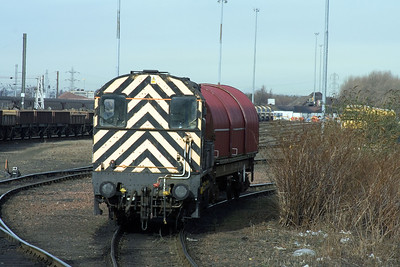 09014 and a steel wagon at Millerhill