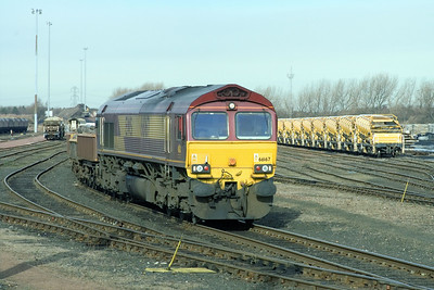 66167 at Millerhill Yard