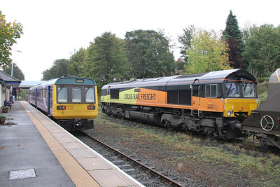 142089 and 66849 at Bishop Auckland
