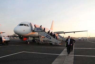 G-EZAG on arrival at Belfast International