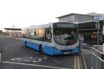 791 was the chariot on the run to Belfast Europa bus station